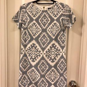 Lulus Patterned Chiffon T-Shirt Dress